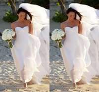 Cheap Plus Size Beach Wedding Dresses New Megan Fox Gorgeous Sweetheart Empire Chiffon Simple Bridal Gowns For Maternity Women Summer Fall
