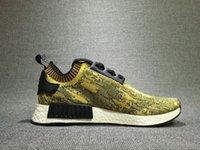 athetic shoes - Originals NMD RUNNER PK GOLD Runs mens shoes outdoor sports athetic footwear R1 PK NICE KICKS