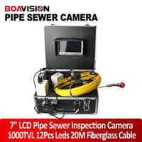 Wholesale 20M Cable Waterproof Duct Sewer Pipe Inspection Camera System drain Industrial Video Snake Endoscope Camera White Lights Night Vision