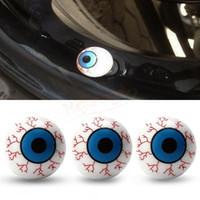 auto antenna plug - GPS Creative Eye Ball Pattern Auto Wheel Valve Air Stem Cap Cover Bike Accessories Tire Screw Dust Plug for Car Truck