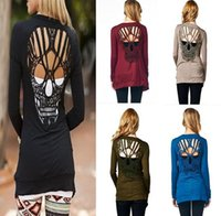 Wholesale Skull Hollow Out Women Sweaters Knitted Long Sleeve Cardigans Spring Summer Thin Cardigans Sexy Blusas Mujer Body Top Plus Size