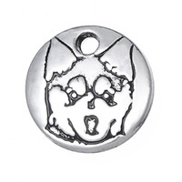 alaskan animals - mm Small Size Cute Alaskan Klee Kai Charm Pendant for Bracelet Dog Animal Jewelry jewelry making