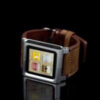 al por mayor correa de cuero nano-Para iPod Nano 6 Banda de reloj multi-touch de pulsera correa de cuero correas de reloj de la cubierta para el iPod nano 6ta generación