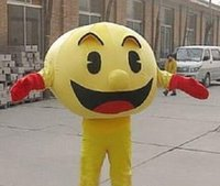 athletic pictures - Real Pictures Deluxe Pac Man Pacman Yellow Video Game Character mascot costume