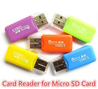 Wholesale x50 Epacket High Speed USB Micro SD card T Flash TF M2 Memory Card Reader adapter gb gb TF Card