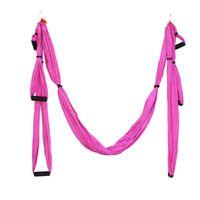 aerial man - Newest Parachute Fabric Swing Inversion Therapy Anti gravity Aerial Yoga Set Hammock Pink Fitness Women Gym Dance Aerobic