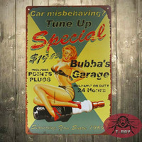 Bubba Garaje Retro Metal Tin Sign Hogar Alfiler Rockabilly Up Kitsch Vintage H-19 160909 #
