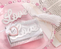 Wholesale Romantic wedding gift Stainless steel bookmark for Book Page Holder Novelty book marker stationary office material