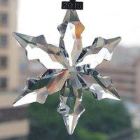 annual ornaments - Christmas Star edges Crystal Large Snowflakes Ornaments Annual Ornament Car Accessories Classic Car Pendants