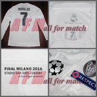 Wholesale UCL Final Milano R M Match Worn Player Issue Home Ronaldo Bale Sergio Ramos Soccer Football Custom Patches Sponsor