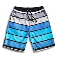 athletics running boards - Mens Striped Board Shorts Brand Bermuda Surf Beach Shorts Loose Sea Athletic Short Blue Swimwear Swimsuit Running Sport Short