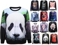 animal hat wolf - Hot Selling Animal d Printed Tiger Panda Cat Owl Wolf Sweatshirt Women O Neck Hoodies Casual Sport Coat Tops Felpe Donna
