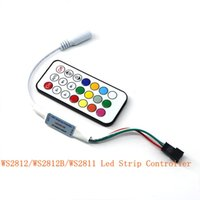 Wholesale WS2812B WS2811 LED Strip Controller Magic RGB Light Controller With Remote Mini Symphone Keys IR Control