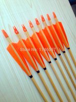 Wholesale tranditional wooden arrow turkey feather wood arrows archery bow hunting shooting