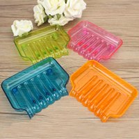 Wholesale Lowest Price Clear Color Suction Draining Cup Holder Bathroom Shower Soap Dish Tray Storage Excellent Quality