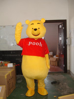 Wholesale 2016 Mascot Costume Winnie The Pooh Cartoon Clothing Adult Size Bear