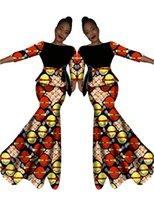 african skirt set - Women African Clothing Wax Two PiecesTraditional Set sleeve Clothing Custom Made Tops Skirts New Fashion WY566