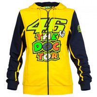 Wholesale 2016 Brand New Men s Clothing Cotton MOTOGP Valentino Rossi VR46 The Doctor Moto GP men s Hoodie