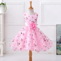 ball stamps - Pink children s wedding dress Flower girl dress skirt Tutu Princess Dress Girls stamp