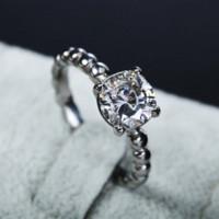 antique diamond engagement ring settings - CZ diamond engagement rings for women stainless steel jewelry antique vintage custom rings Cheap ring settings for princess cut diamonds