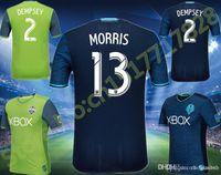 Wholesale Benwon Top quality Seattle Sounders soccer jersey DEMPSEY MARTINS home green jersey away blue men football shirt camisetas de futbol
