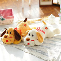 Wholesale 30cm cm cm Large Size Lying On Front Dog Plush Toys Kids Sleep Pillow lip print Dog Cloth Doll Kids Toys T11518855