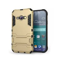 aces high cover - High Quality in1 Defender Armor TPU PU Shockproof Dustproof Original Design Hard Back Cover Case with Bracket Stand for Samsung J1 ACE DHL