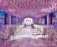 Wholesale 2016 Long Elegant Artificial Silk Flower Wisteria Vine Rattan For Wedding Centerpieces Decorations Bouquet Garland Home