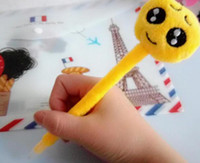 Wholesale 1000pcs PrettyBaby emoji plush creative ballpoint pen Lovers Gifts Plush Cotton Small Emoji Pillow for office and school