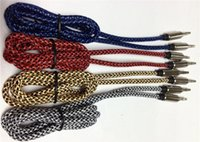 audio cable sizes - DHL Fabric braided Shield mm audio cable cord Aux Cable for mp3 mp4 Headphone Nylon Cable size m