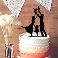 baby girl cake topper - Wedding Cake Toppers Baby Mom and Dad with Little Girl Wedding Anniversary Cake Topper Silhouette Happy Family Cake Toppers