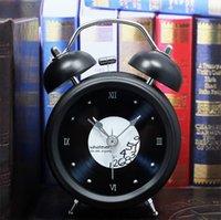bell time clocks - Golden Years retro nostalgia Vinyl CD D simple rivet metal bell alarm clock bedside alarm clock lazy fall time