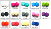 Wholesale Geometric Hexagon Bead Silicone DIY Loose Beads Pendant Bead Mommy Silicone Teething Necklace Beads Fits Baby Nursing Necklaces Bracelets