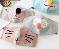 Wholesale Lovely children cartoon mask ball adjustable dustproof thermal activated carbon filter mask
