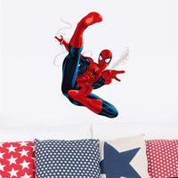 Wholesale spiderman super heros wall stickers kids room decor avengers s002 diy home decals cartoon movie mural art poster