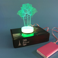 art gifts table - 3D small desk lamp USB Bluetooth Three roses art Colorful DIY LED night light bedside lamp creative gifts married led table lamp
