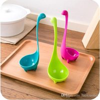 Wholesale New arrive Nessie Soup Ladle Loch Ness Monster Design Upright Spoon Kitchen Bar three color to choose