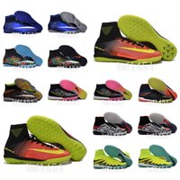 Wholesale 2016 New OrigINal mens High Ankle football Boots MagISta ObRA Soccer shoes SuPERfly CR7 MerCURial V SuperFLy ACC IC TF cleats HyperVENom II