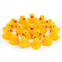 Wholesale Baby Bath Toys set Baby Kid Cute Bath Rubber Ducks Children Squeaky Ducky Water Play Toy