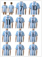 afa soccer - 16 New national team Messi Soccer Jersey Thai Quality AGuero Soccer Shirts DI MARIA AFA Football Jerseys