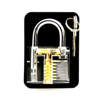Wholesale Professional Lock Pick Set Transparent Visible Cutaway of Padlocks Locksmith Training Practice Lock Trainer Lock with keys