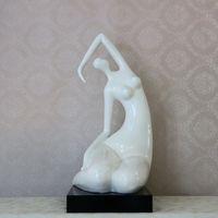 art bedroom space - female body sandstone sculpture fiberglass statue crafts resin model room European Space desktop decoration bedroom accessories
