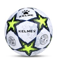 Wholesale Kelme K15S972J Person System TPU Mechanical Sewing Football Fluorescent Green White