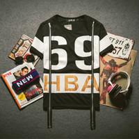 Wholesale Harajuku T Shirts for Men Hip Hop Fashion HBA Printed T Shirt with Side Zipper Short Sleeve Cotton T Shirt Man Streewear