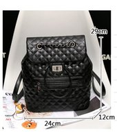 Backpack Style argyle knitting - high quality w327 colors genuine leather argyle chain backpack bag shoulder black grey burgundy c inspired classic luxury cm
