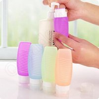 Wholesale 50pcs Portable Travel Toiletry Container Silicone Bottles Cream Lotion Shampoo Shower Gel Lotion Sub bottling Perfume Containers LJJL69