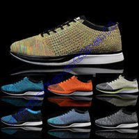 Wholesale New flyknitracer breathable racer mesh man s women s running shoes top quality sports shoes for men women fashion sneakers