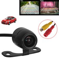 Wholesale E306 mm Color CCD Outside Waterproof Car Rear View Rearview Parking Reversing Camera Backup CAM CAL_025