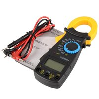 Wholesale Portable AC DC Voltage Electronic Tester Meter LCD Digital Clamp Multimeter B00008 SPDH