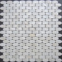Wholesale New lustre shells mother of pearl tiles oval pure white kitchen backsplash tiles decorative shell mosiac tile bathroom wall tiles